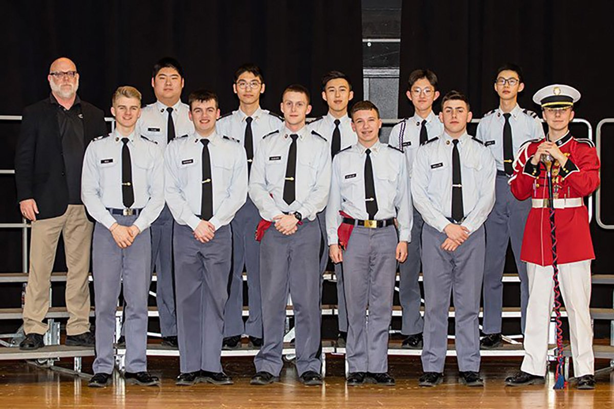 Eleven cadets from St. John's Northwestern Military Academy