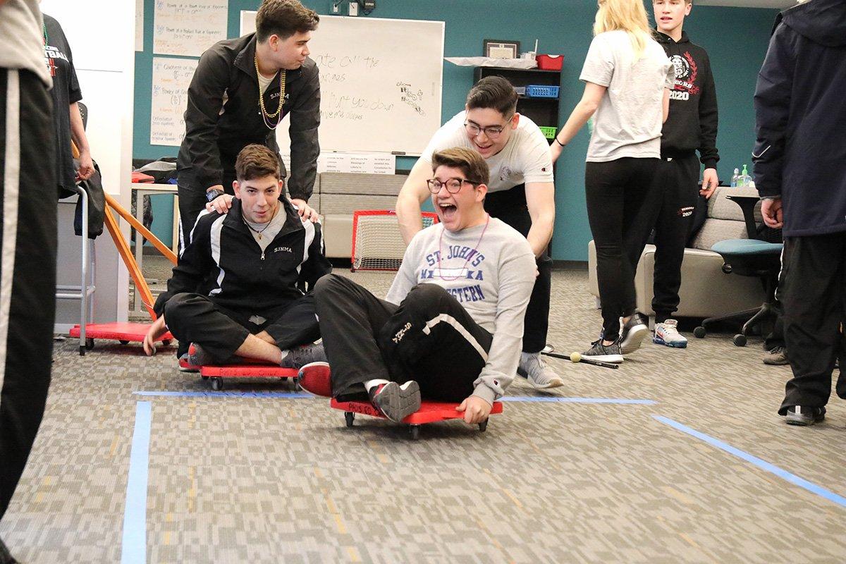 Students having fun